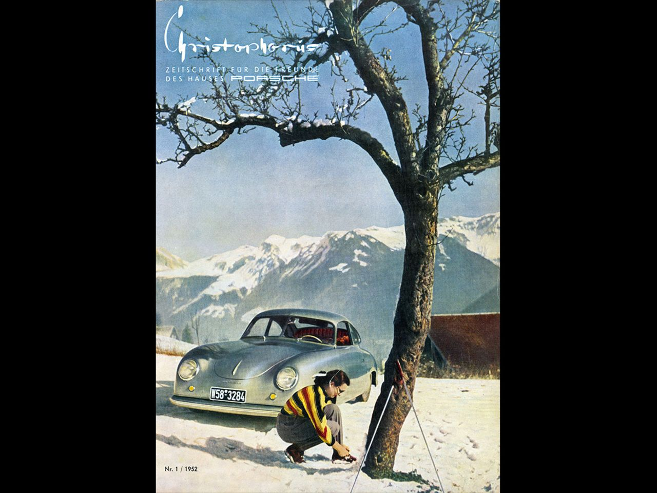 ... the Porsche customer magazine Christophorus as its artistic director. This is the cover of the first issue in 1952. Christophorus is the oldest customer magazine in the automobile industry, and continues to accompany the brand to this day.