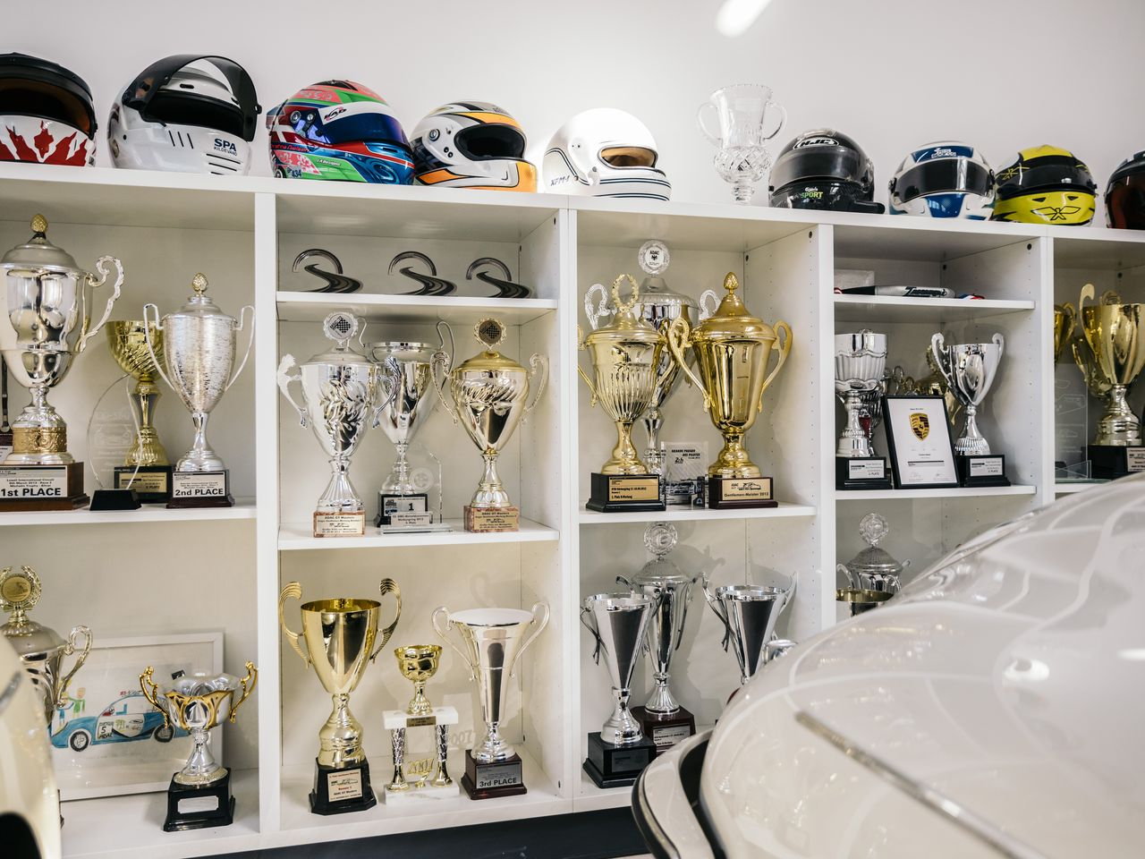 A collection of trophies in the garage testifies to the daughter's success: Christina Nielsen is not only a two-time and defending GTD champion, but also the first woman to win a major sports-car championship in the US.