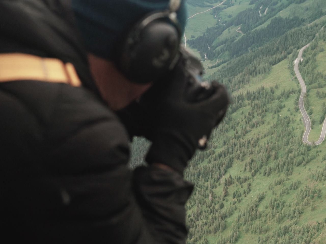 "... or in the air. Bogner often shoots his photographs from a helicopter: ""I just need the kick nowadays,"" he says."