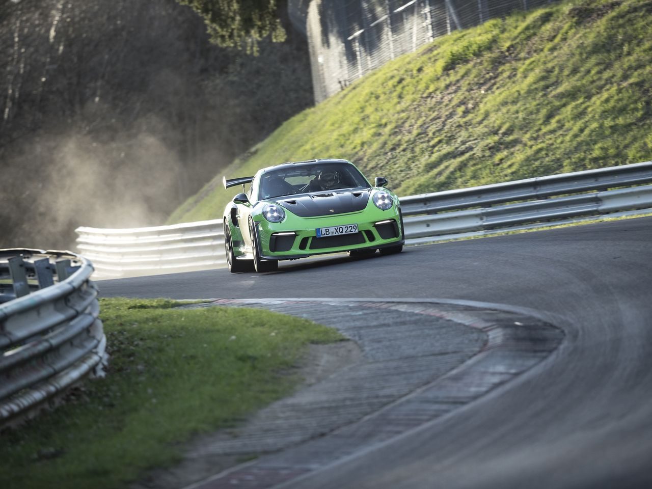 At the record drive on the Nordschleife of the Nürburgring ...