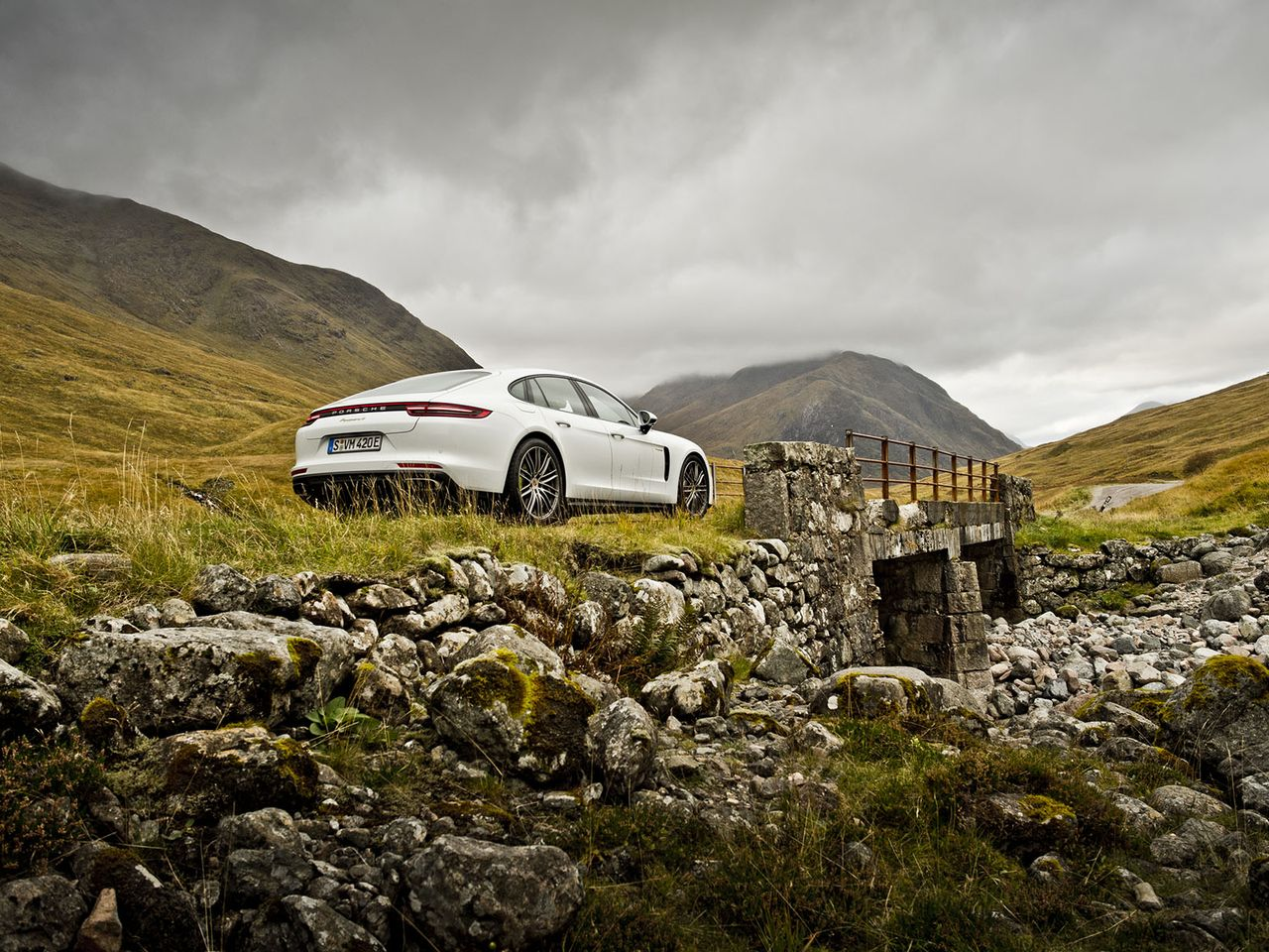 Driving in Glencoe, a film location for the James Bond movie Skyfall.